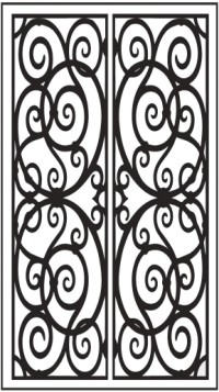 Double Door Pattern Dd3 Faux Wrought Iron Window Inserts