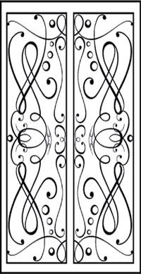 Double Door Pattern Dd4 Faux Wrought Iron Window Inserts Toronto