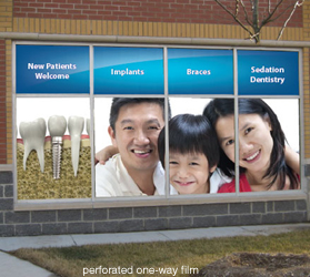 Greater Toronto Commercial Window Graphics - Window decals for dental office