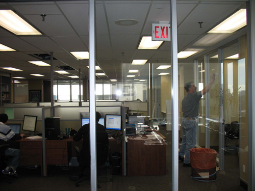 graphic squares commercial privacy film