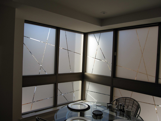 Toronto residential window graphic for the look of etched for Residential window design
