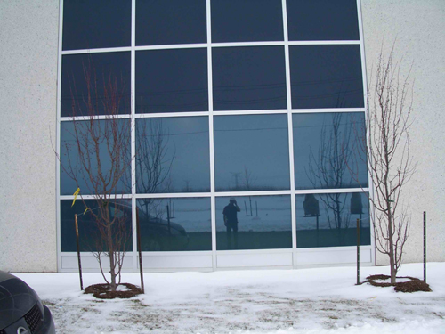 commercial window tint mirrored