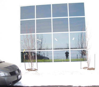 warehouse before decorative window film for privacy and security