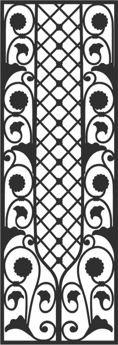 Pattern D5 Faux Wrought Iron Window Treatment Toronto