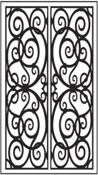 Double Door Pattern Dd3 Faux Wrought Iron Window Inserts