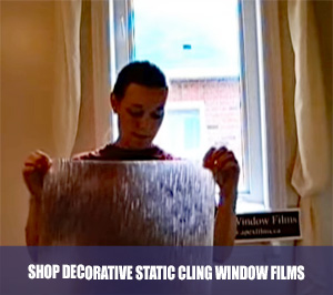 Shop decorative static cling window films