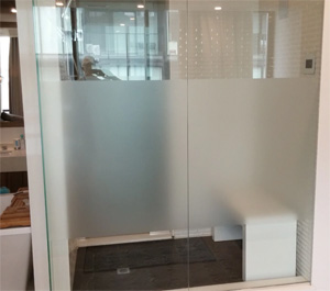 frosted window film for shower stall privacy