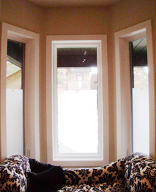 decorative privacy window film Toronto residendtial image
