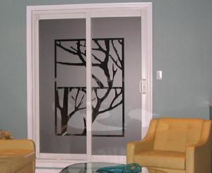 window films with graphics a work of art Toronto image night