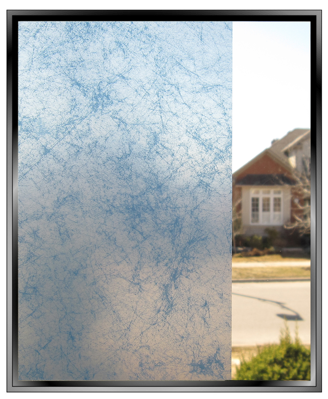 Blue Smoke Decorative Privacy Window Film