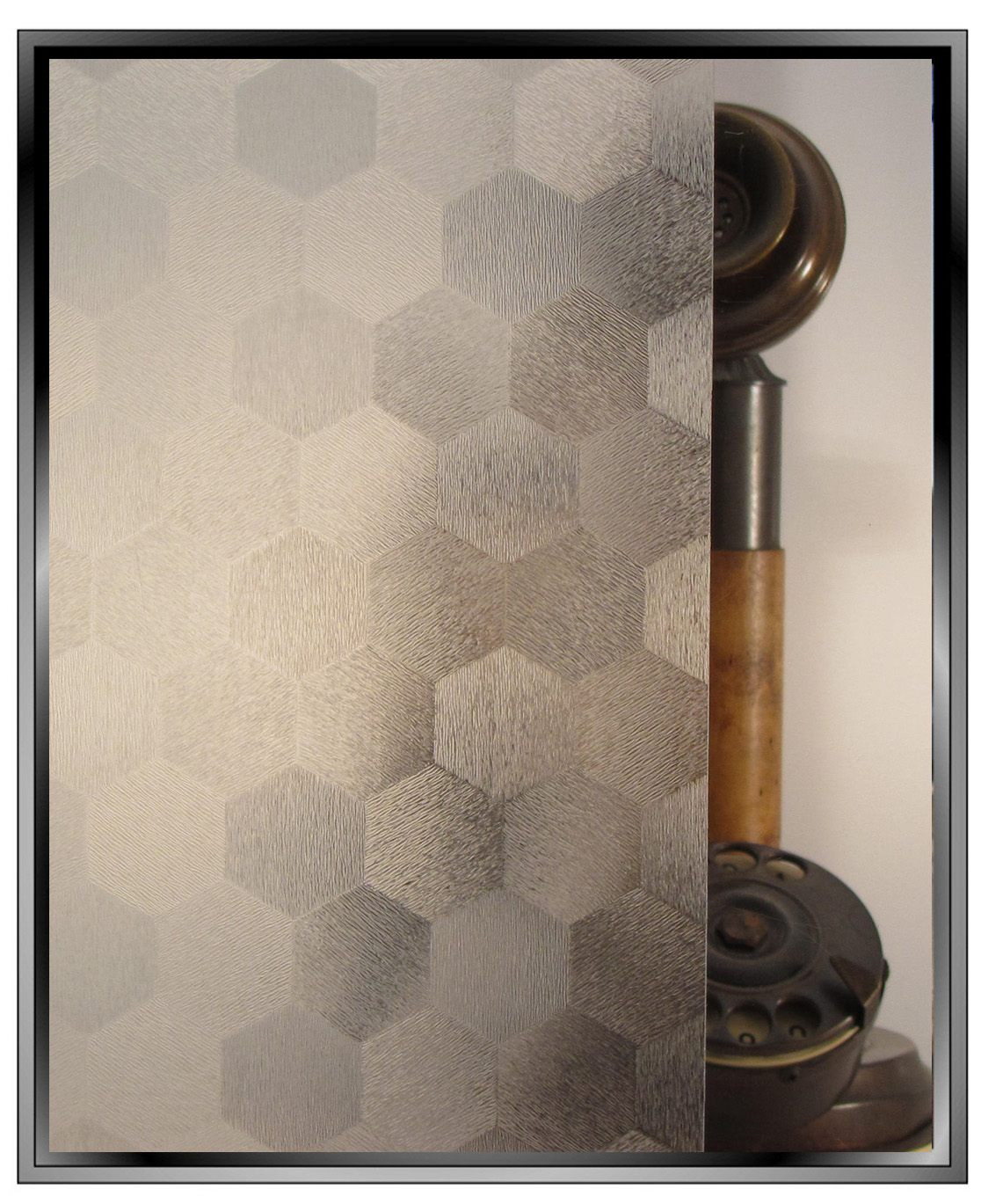 honeycomb hexagon texture pattern decorative privacy window film toronto