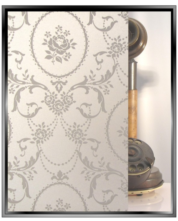 lace privacy pattern decorative window film from Apex Toronto