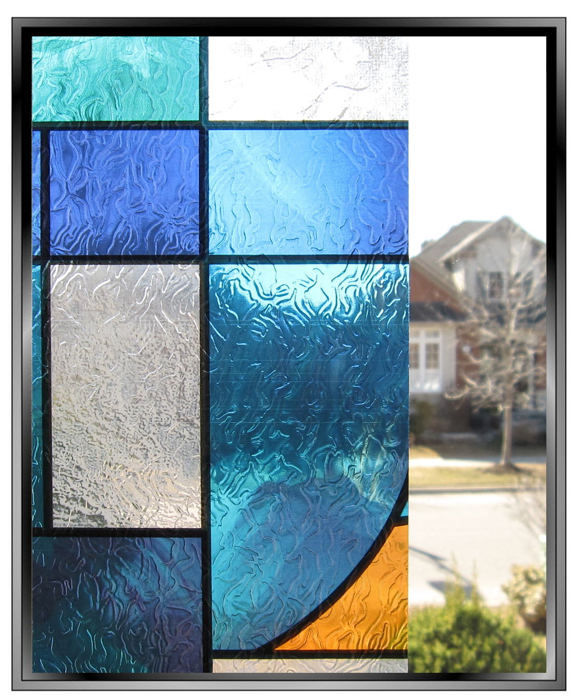 Cut out in wall for Stained glass window film
